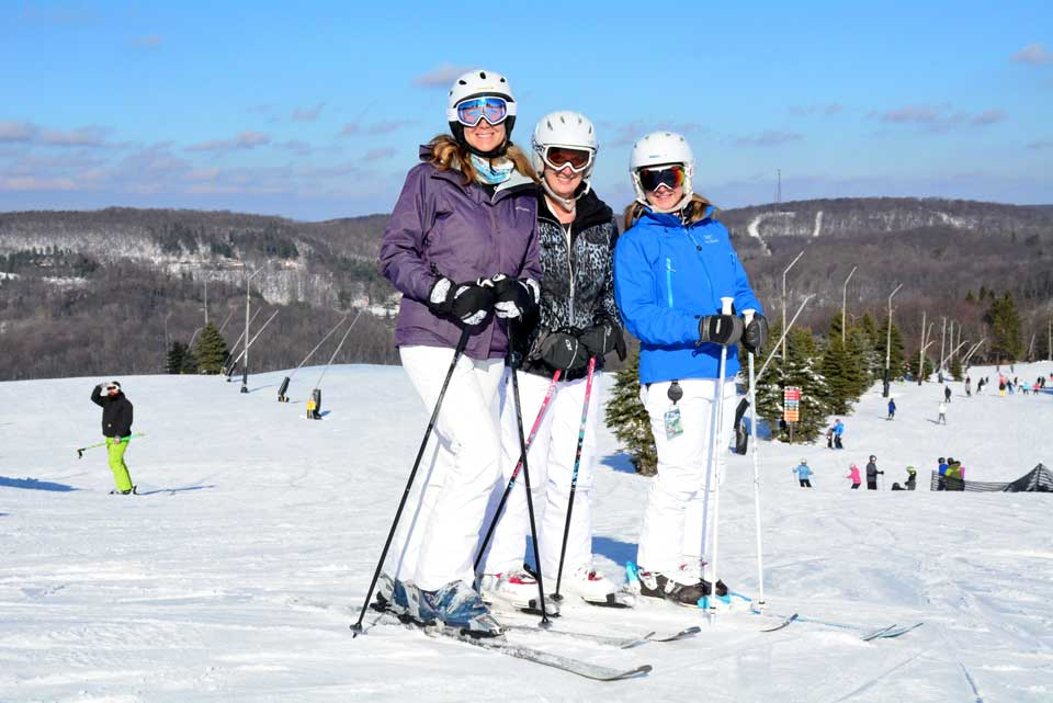 Ladies with Ski Gear on at Seven Springs Mountain Resort